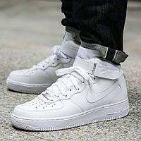 Оригинальные кроссовки Nike Air Force 1 Mid 07 All White (315123-111)