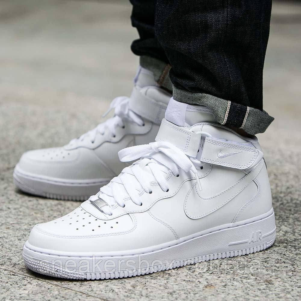 3f58b3ba Оригинальные кроссовки Nike Air Force 1 Mid 07 All White (315123-111 ...