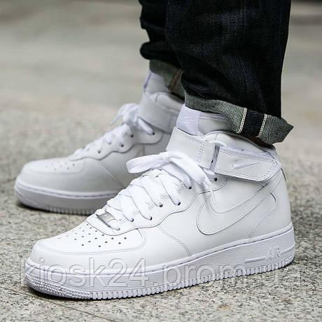 Оригинальные кроссовки Nike Air Force 1 Mid 07 All White (315123-111 ... 4f1b3068b29
