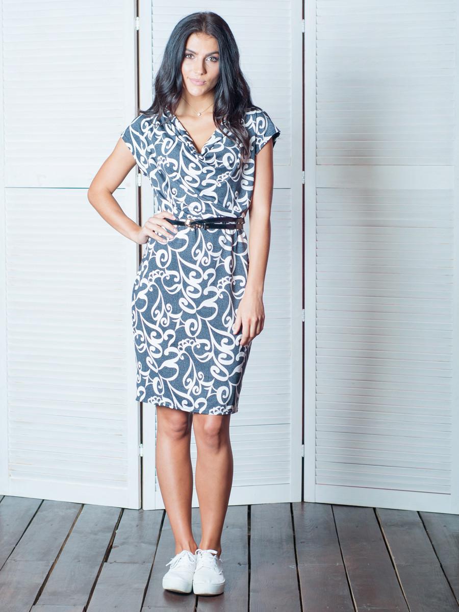 Лёгкое платье с узором Оливия.