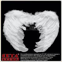 Белые крылья Ангел карнавальные