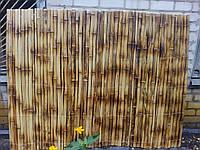 Забор(ограждения) из бамбука обожженный 150х200см рейка 30-45мм