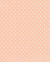 Подарочная бумага (упаковочная) персикового цвета в белый горошек