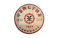 Чай Пуэр Шу Пу-Эр 7571 Февраль 2012, Блин (357 г)