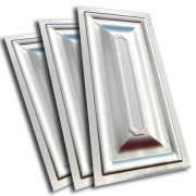 Филенка металлическая штампованная для ворот, шоколадка 250Х500мм. Классика