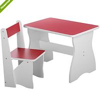 Столик со стульчиком деревянный VIVAST 504-2 красный ***