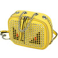 Яркая мини сумочка с заклепками