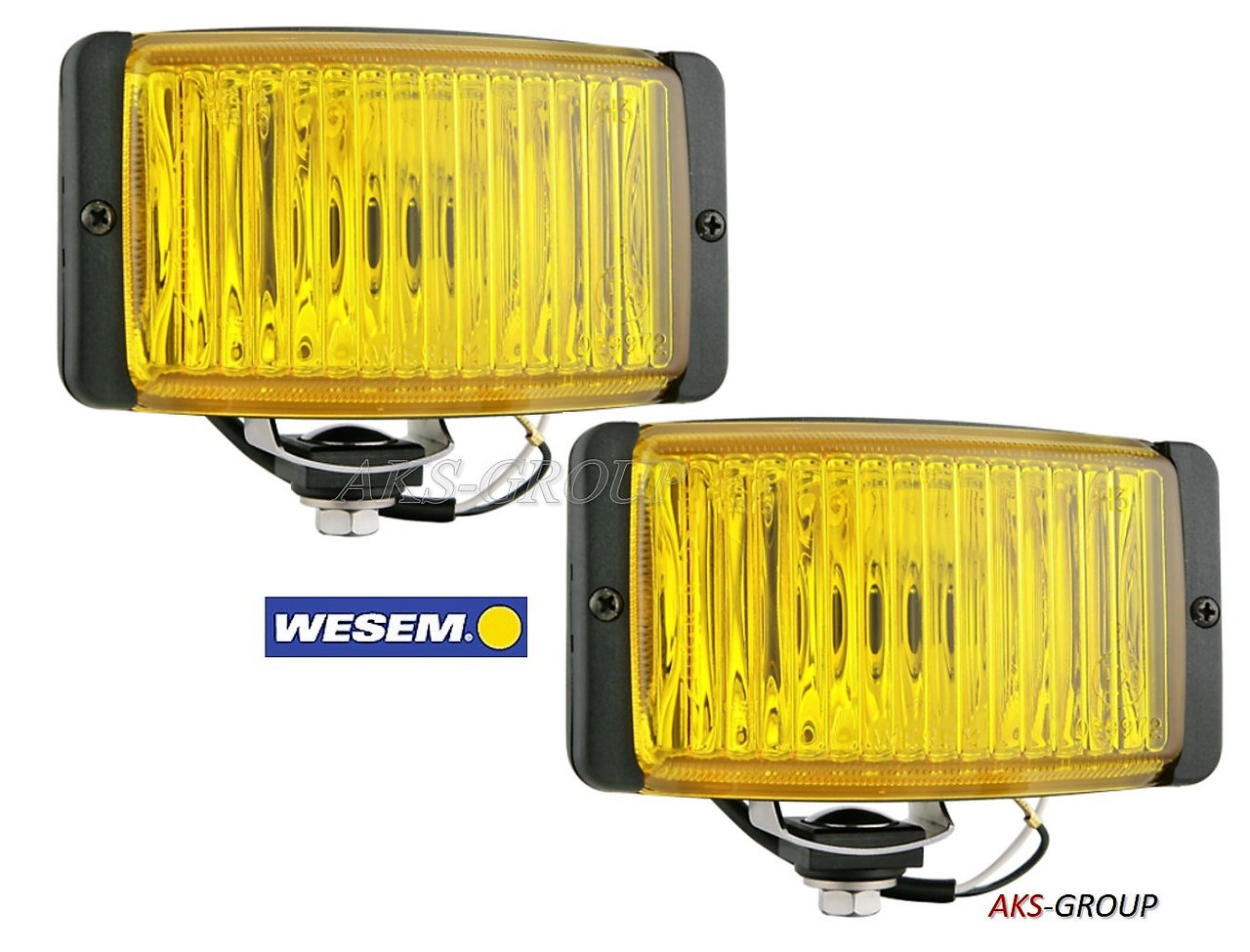 Противотуманные фары 138x78x68мм Wesem HM2.19973 галогенные желтые