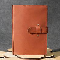Кожаная обложка для блокнота коричневая