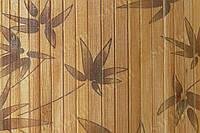 Обои из бамбука (тёмные-листья бамбука) ширина планки 8мм высота  0.9м
