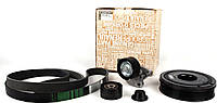 Комплект натяжитель + ролик + шкив + ремень генератора на Renault Trafic 2.0dCi (+AC) с 2006..., 7701477344