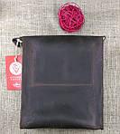 Кожаная мужская сумка VS220 Crazy horse brown 24х22х6 см, фото 5