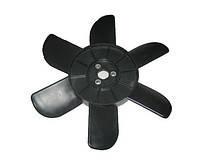 Крыльчатка вентилятора радиатора ВАЗ 01-07, 2121, 21213 6-ти лоп. с метал. втулкой (черная)