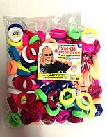 Резинки для волос - Калуш нейлон (120 шт), цветные маленькие