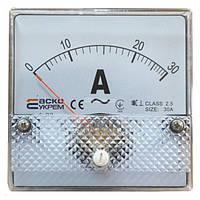 Амперметр А-80 (80x80 мм) 30 А (AC) прямого включения, АСКО-УКРЕМ, A0190010054