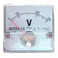 Вольтметр А-80 (80x80 мм) 300 В (AC) прямого включения, АСКО-УКРЕМ, A0190010057