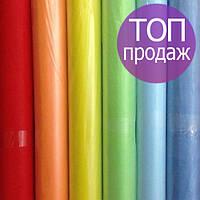 Одноразовые простыни в рулонах по 60см*100 метров (20 г/м2) Спанбонд голубые