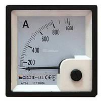 Амперметр A-72-6 (72×72 мм) XX/5А (AC) трансформаторного включения (без шкалы), АСКО-УКРЕМ, A0190010059
