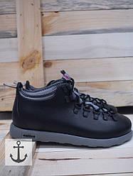 Ботинки мужские зимние черные Native
