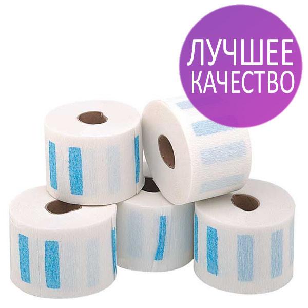 Воротнички парикмахерские 5 роллов по 100 шт., с фиксирующей полоской, бумажные, эластичные (белые) - Dezin - комплексные решения для Вашых салонов в Львовской области