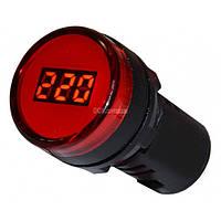 Вольтметр цифровой AD22-22 DVM красный, АСКО-УКРЕМ, A0190010010