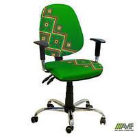 Эргономичное компьютерное кресло Бридж хром Украина №5 с механизмом Multi Fix для подростков и взрослых ТМ AMF 027077