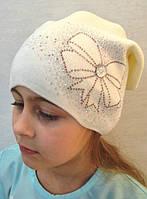 Вязаная шапка для девочки - Da1704