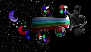 Лазерний проектор STAR SHOWER 2в1 40 візерунків