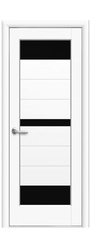 Межкомнатные двери Линда BLK белый мат