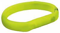 TRIXIE SAFER LIFE - силиконовый светящийся USB ошейник для собак XS-S, 35см/18мм, зеленый