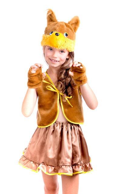 Маскарадный костюм для девочки Белочка коричневая