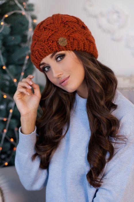 Зимняя женская шапка «Дюран» Терракотовый