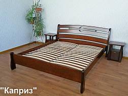 """Кровать """"Каприз"""" (200*160), массив дерева - ольха, покрытие - """"итальянский орех"""" (№ 462). 1"""