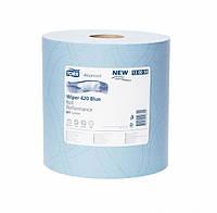 Протирочная бумага Tork 420 голубая большой рул. 2 слоя 1500 листов 130050