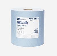 Протирочная бумага Tork 420 голубая малый рулон 750 листов 130052