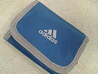 Кошелек adidas синий спортивный молодежный