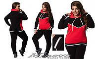 Теплый женский спортивный костюм из трехнитки (размеры 50-62)