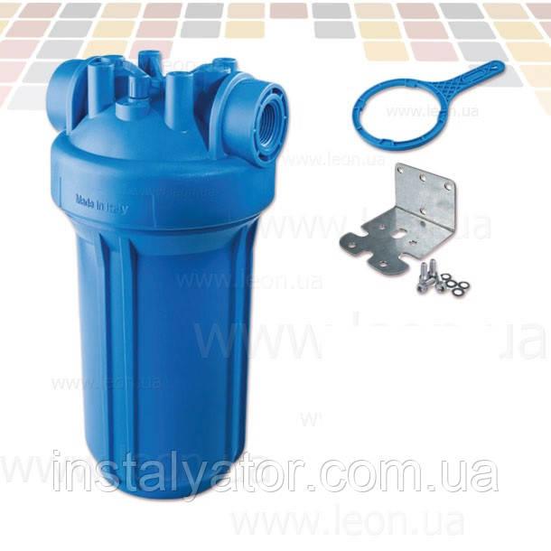 "Колба проточного фильтра Atlas Filtri DP Big AB IN, синий стакан, внешний диаметр 4.5"""