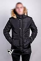 Куртка парка мужская зимняя Black
