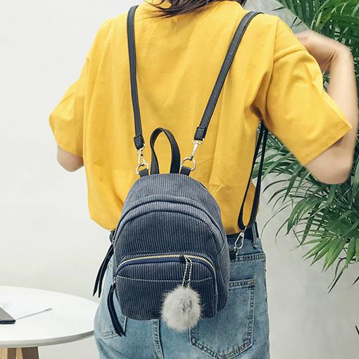Модный вельветовый мини рюкзак