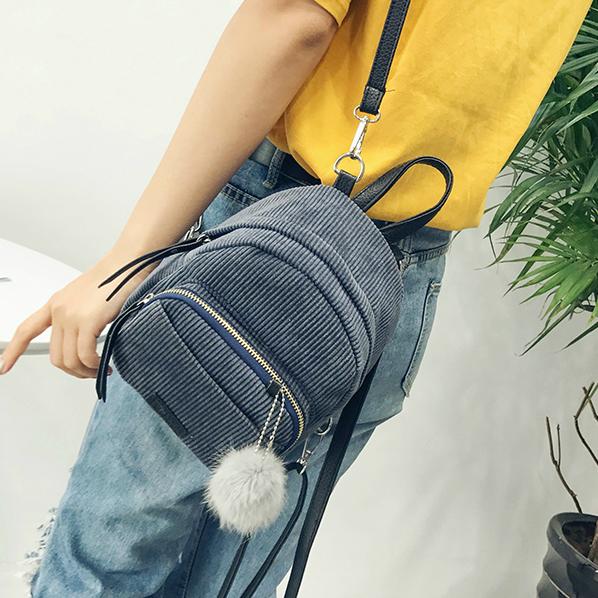Маленький вельветовый рюкзак