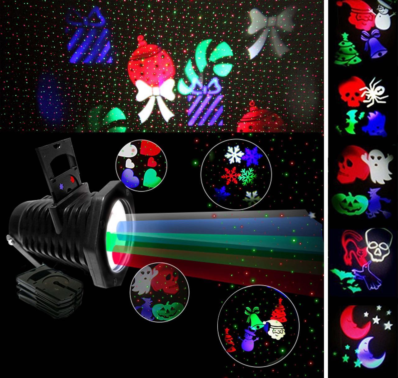 Лазерный проектор STAR SHOWER 2в1 40 узоров