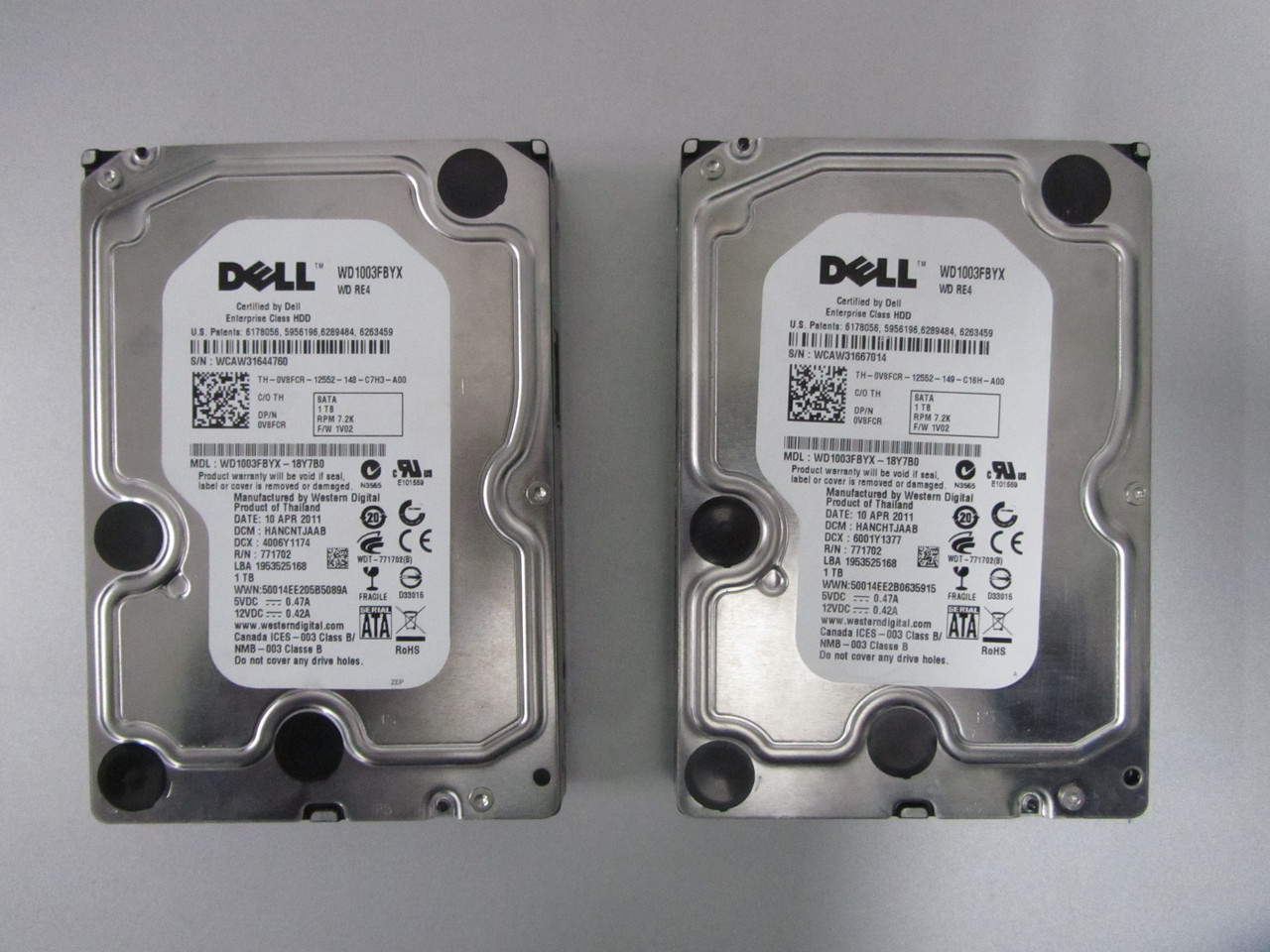Жесткий диск для компьютера SATA WD 1Tb Black (серверный винчестер с DELL) на запчасти
