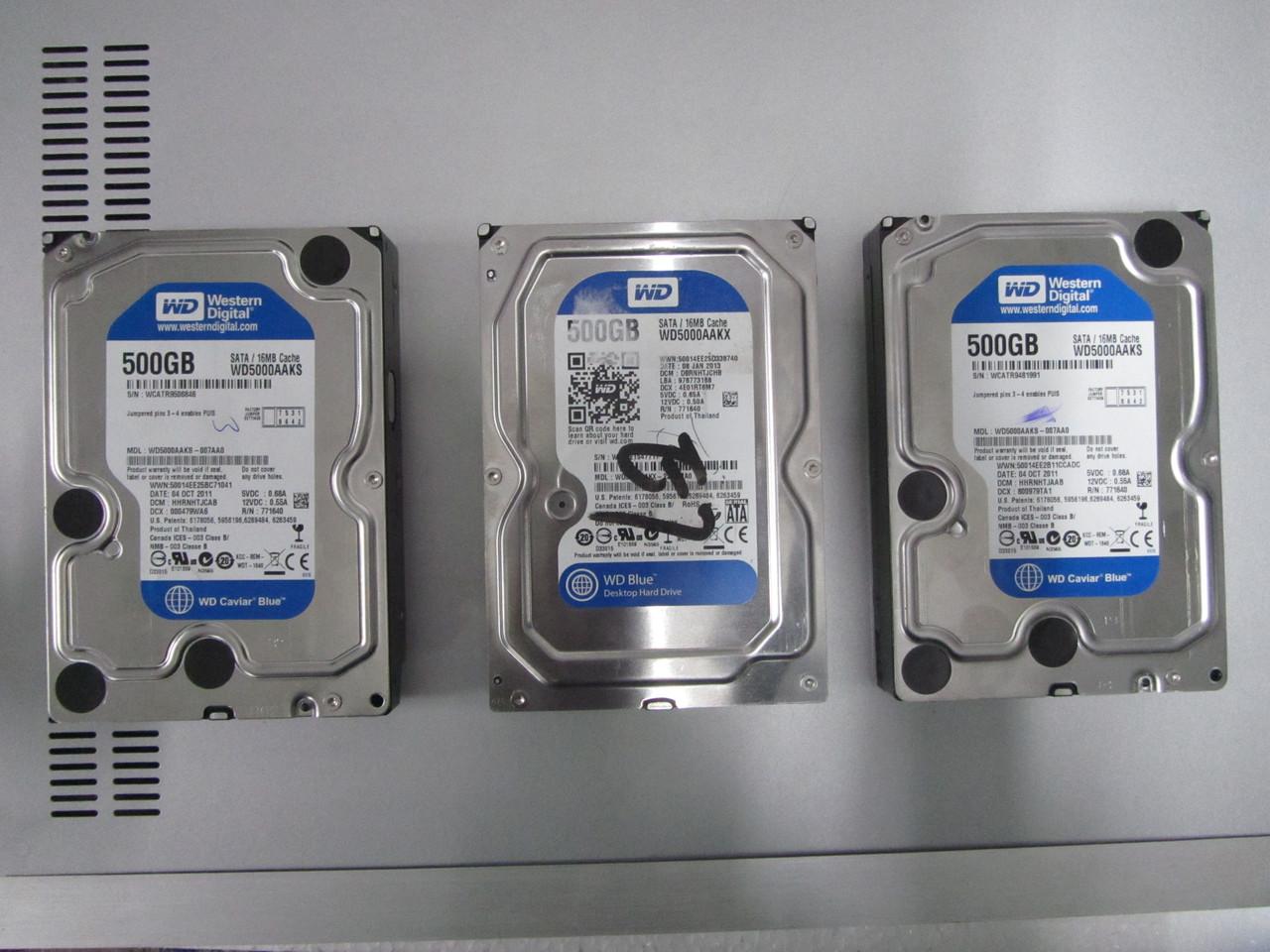 Жесткий диск для компьютера SATA Western Digital 500Gb Blue