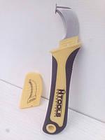 Нож Htools 1000 V,180 мм., с пяткой для снятия наружной изоляции электрического кабеля.