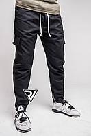 Штаны мужские с карманами (карго) Rivosh black
