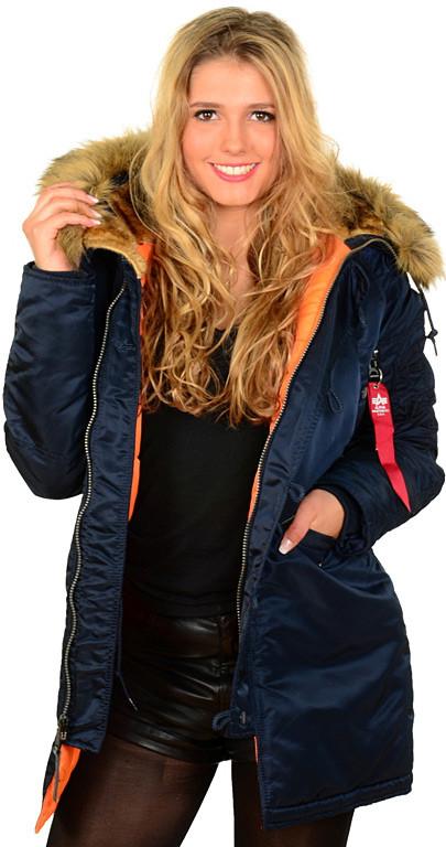 c5cb227a Женская куртка аляска N-3B W Parka Alpha Industries (синяя), цена 6 580  грн., купить в Львове — Prom.ua (ID#588688531)