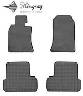 Mini cooper i r50 2001- комплект из 4-х ковриков черный в салон.