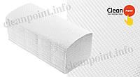 Рушники паперові целюл., V-складання Lux Small +, 2-х шарові, 150 шт/пач  Clean Point