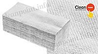 Рушники паперові макул., V-скл., сірі, 1-но шарові, 160 шт/пач Clean Point